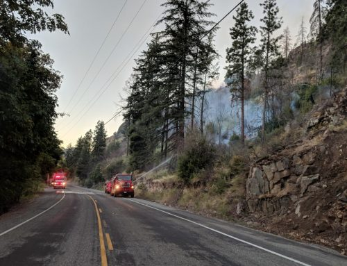 Updated Saturday, 8 a.m. – Fields Point Fire at 25% Containment