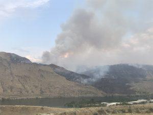 Brush Fire Near Highway 97 and Beebe Bridge - Lake Chelan