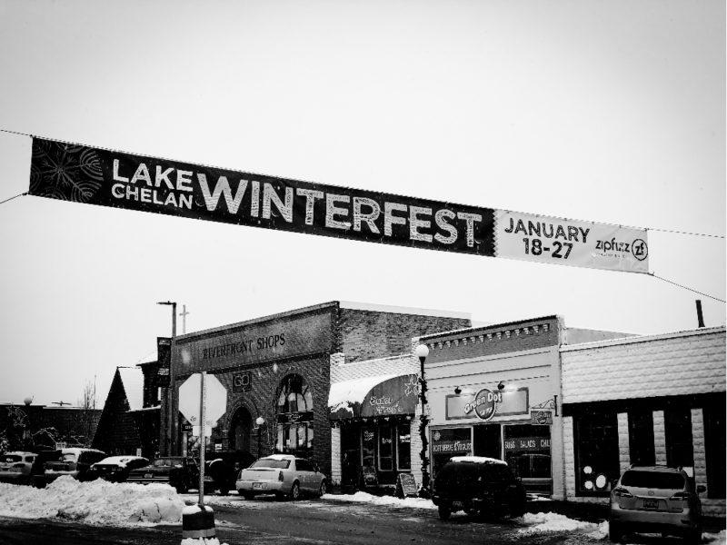 Winterfest Banner over Chelan