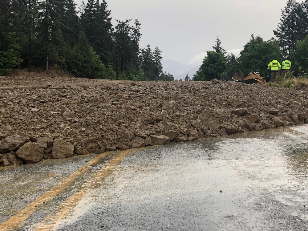 Rainstorm Causes Mudslides And Road Closures Lake Chelan News And Information