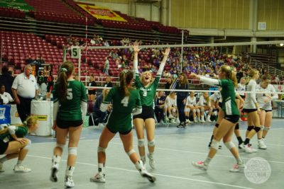 Chelan volleyball celebrates victory