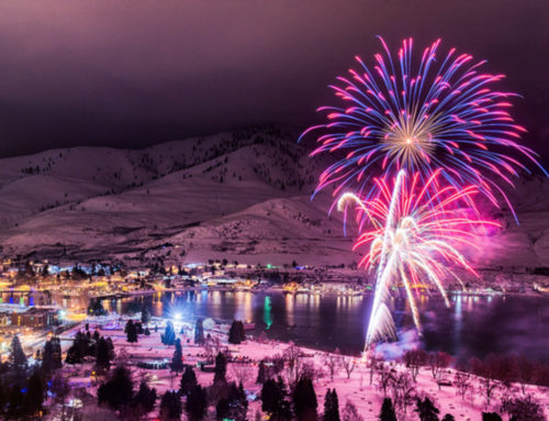 Snow Fall Enhances Winterfest Ambiance
