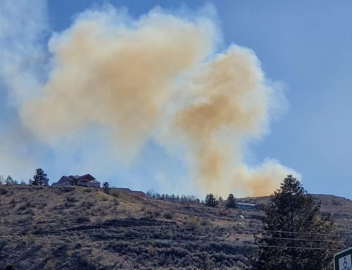 Little Butte Brush Fire Propelled by Winds